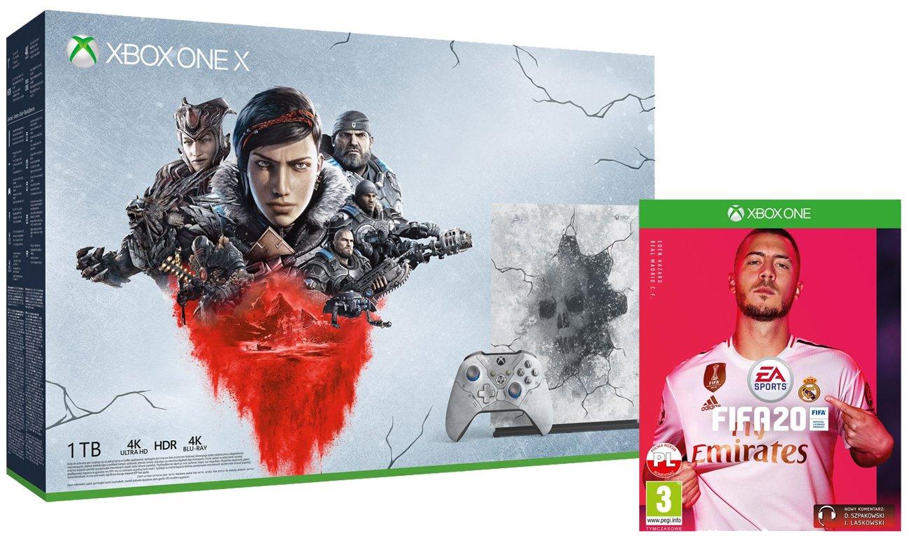 Zestaw Xbox One X Edycja Limitowana Gears 5 + FIFA 20