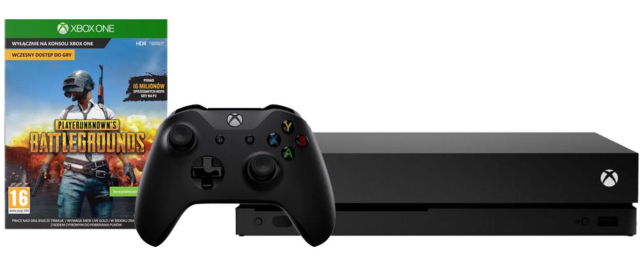 Zestaw Xbox One X + PUBG