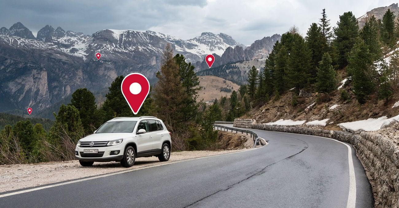Pozycjonowanie GPS i wbudowana baza fotoradarów