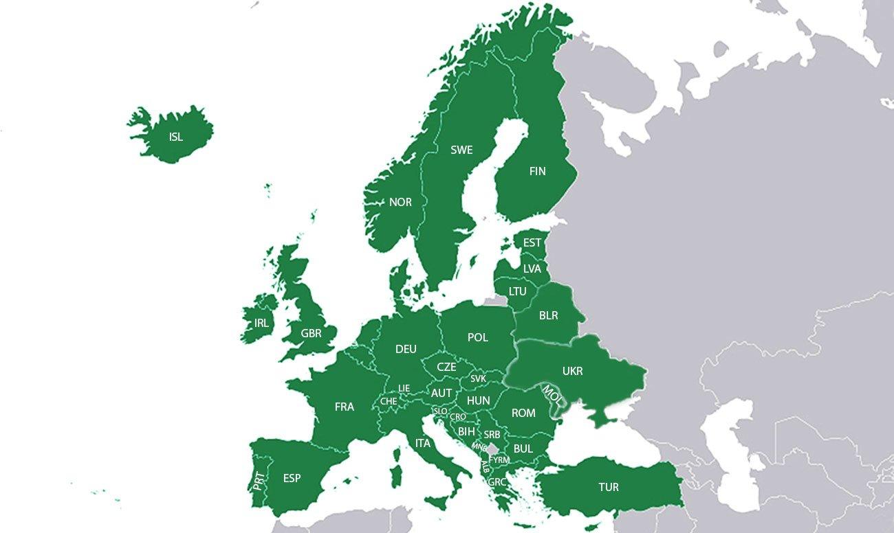 Szczegółowe mapy Europy