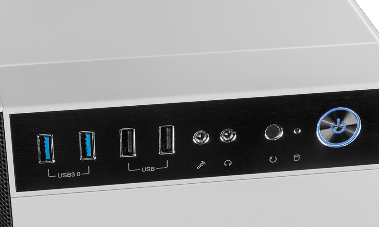 MODECOM Oberon Pro Glass White Panel Przedni