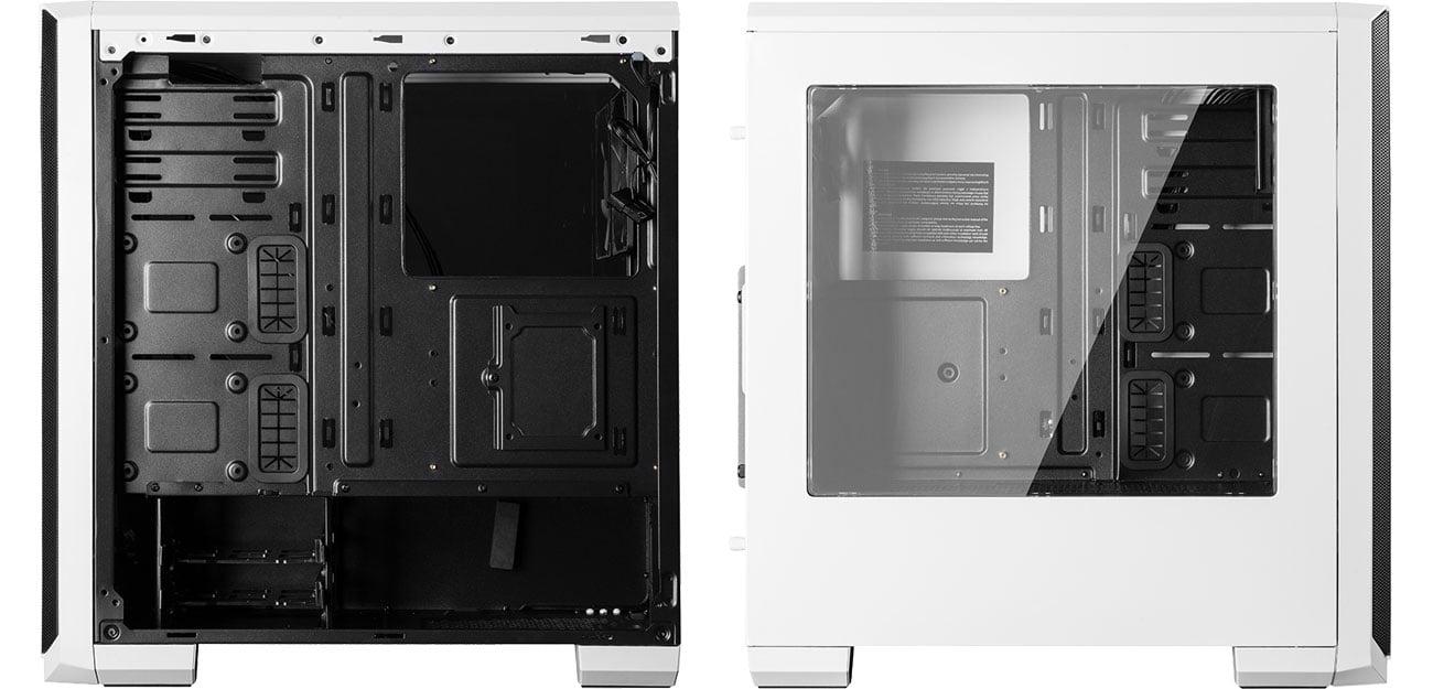 MODECOM OBERON PRO biała Wnętrze, okno w panelu bocznym