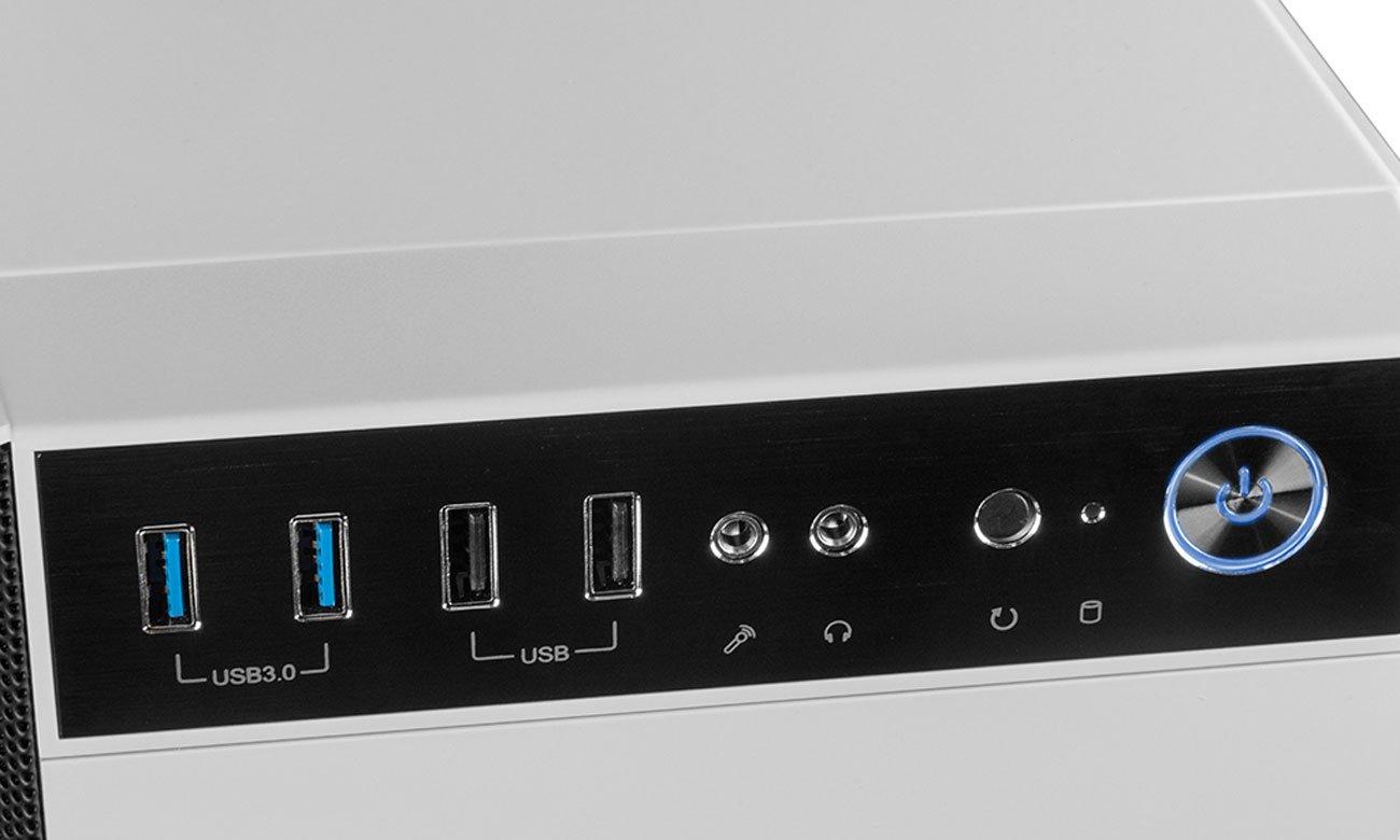 MODECOM OBERON PRO biała Panel USB, audio