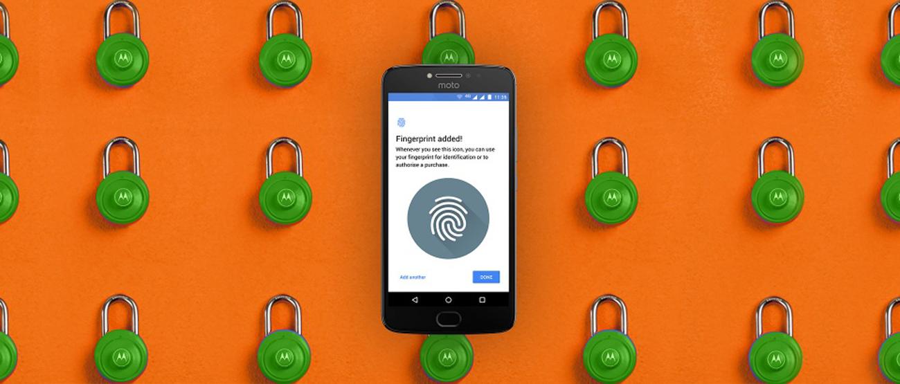 Motorola Moto E4 Plus czytnik linii papilarnych