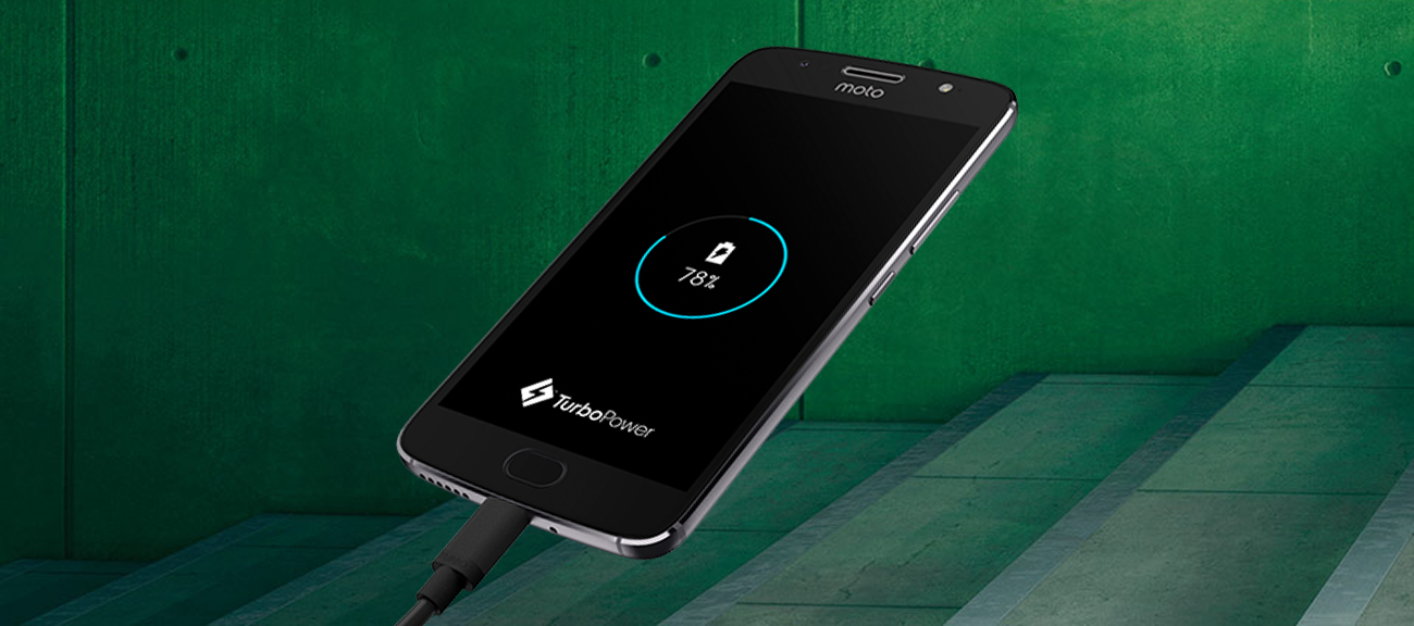 szary motorola Moto G5S bateria 3000mAh funkcja turbo charge