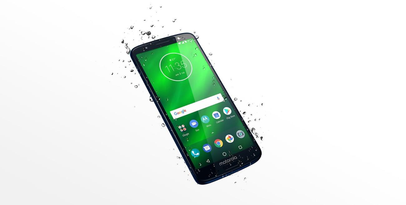 Motorola Moto G6 plus smukła sylwetka odporna na zachlapania