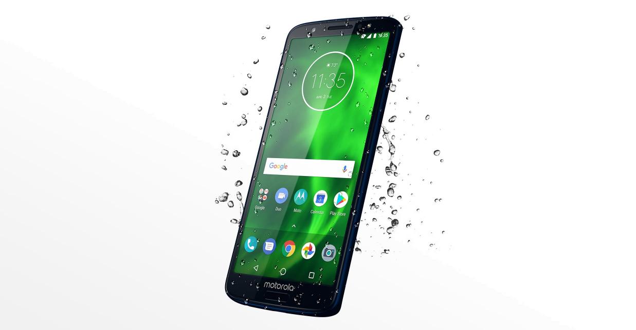 Motorola Moto G6 smukła sylwetka odporna na zachlapania