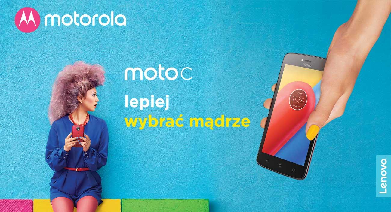 Motorola Moto C obudowa w trzech kolorach