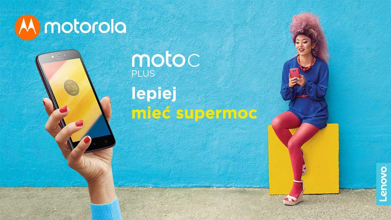 Motorola Moto C plus smukła klasyczna obudowa z mikroteksturą