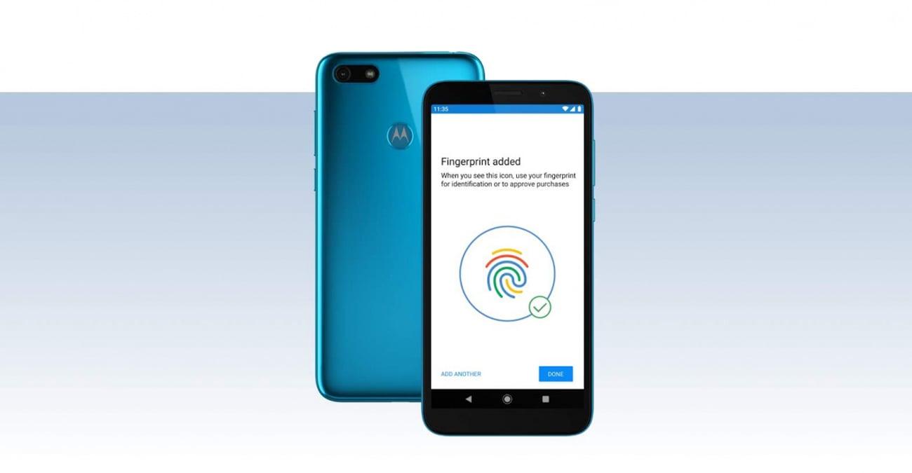 Motorola Moto E6 Play skaner twarzy czytnik linii papilarnych