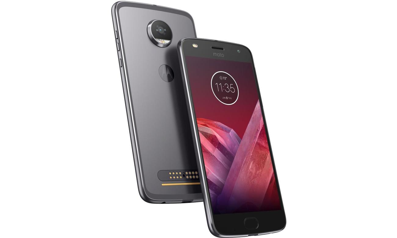 Szary Motorola Moto Z2 Play metalowa obudowa