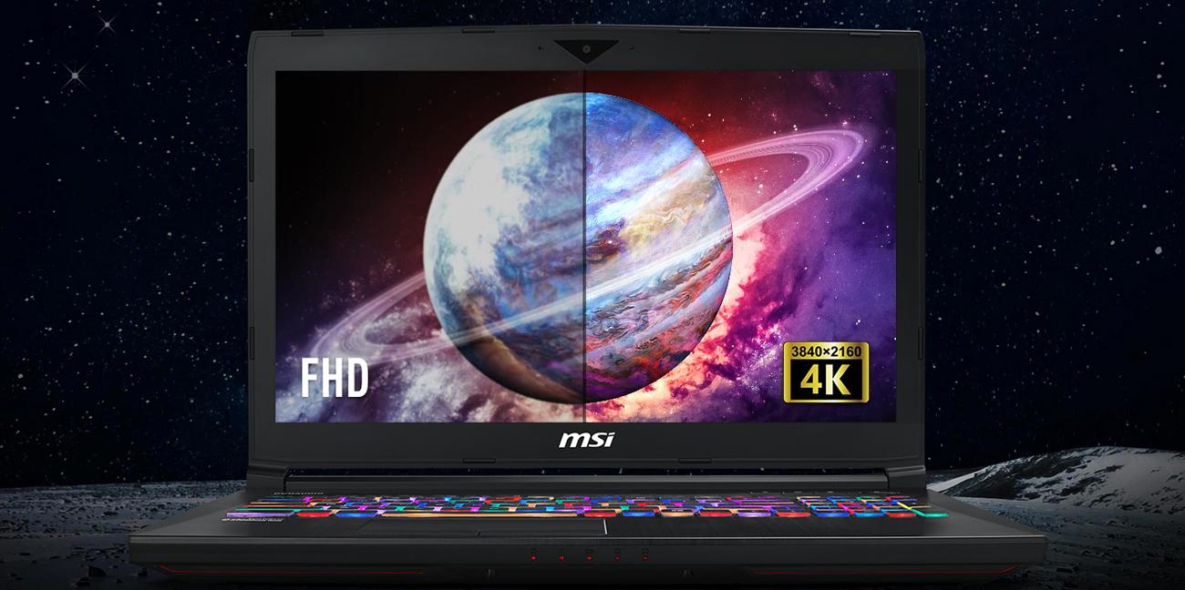 MSI GT63 rozdzielczość 4K IPS