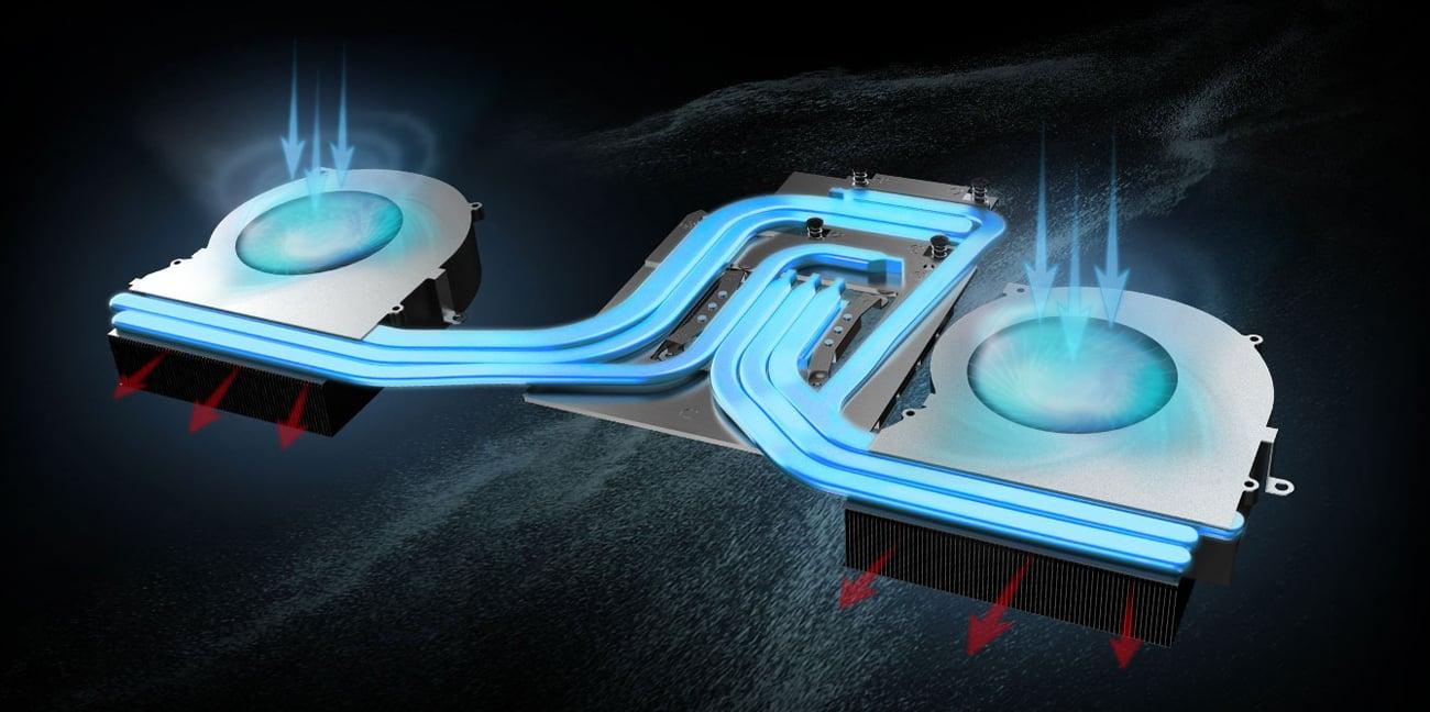 MSI GT63 system chłodzenia
