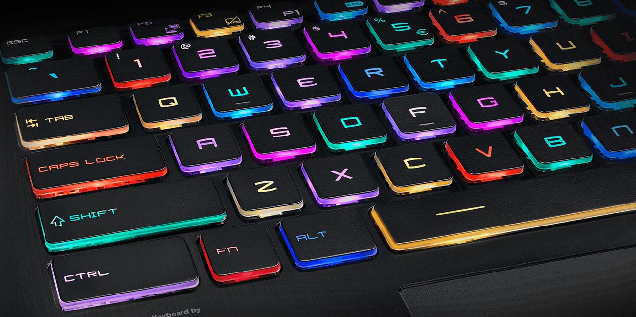 MSI GT63 gamingowa klawiatura RGB