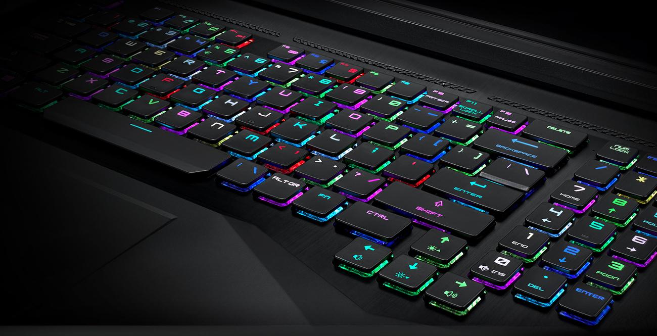 MSI GT75 gamingowa klawiatura RGB