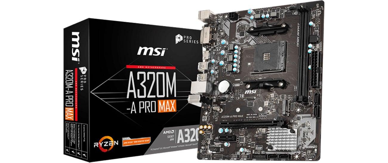 Płyta główna Socket AM4 MSI A320M-A PRO MAX