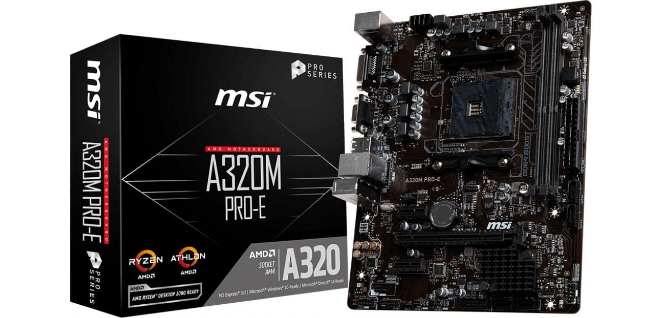 Płyta główna Socket AM4 MSI A320M PRO-E