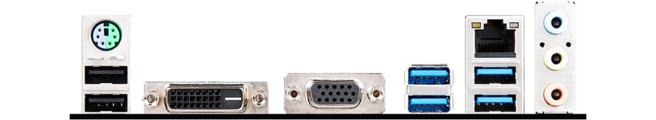 MSI A320M PRO-E Złącza USB