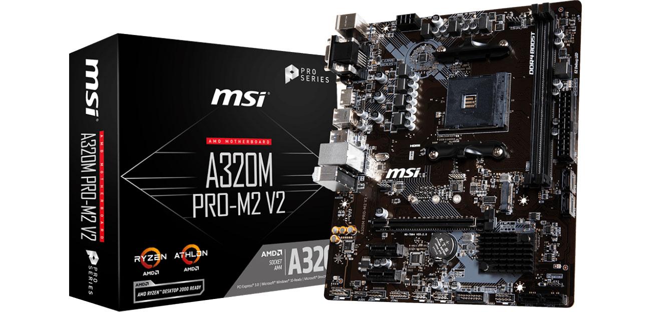 Płyta główna Socket AM4 MSI A320M PRO-M2 V2