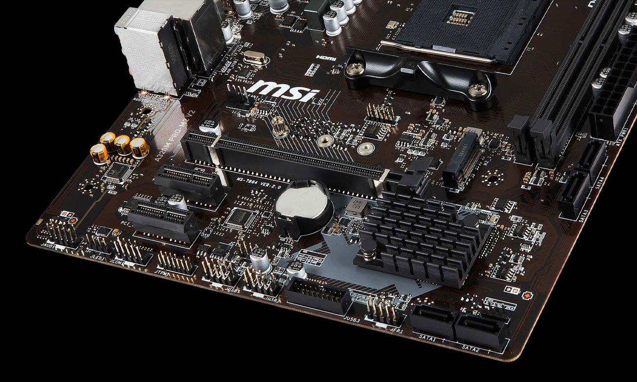 MSI A320M PRO-M2 V2 Złącza M.2, USB