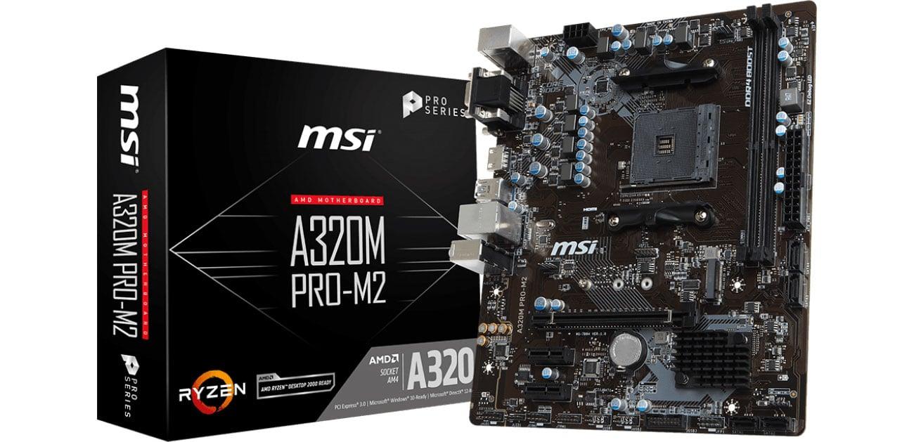 Płyta główna Socket AM4 MSI A320M PRO-M2