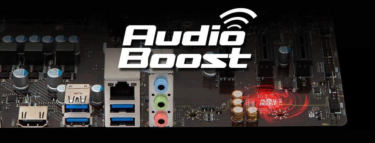 MSI A320M PRO-M2 Dźwięk Audio Boost