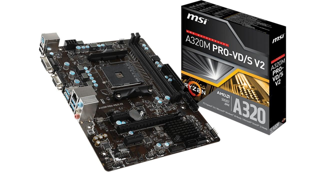 Płyta główna Socket AM4 MSI A320M PRO-VD/S V2 (PCI-E DDR4 USB3.1)