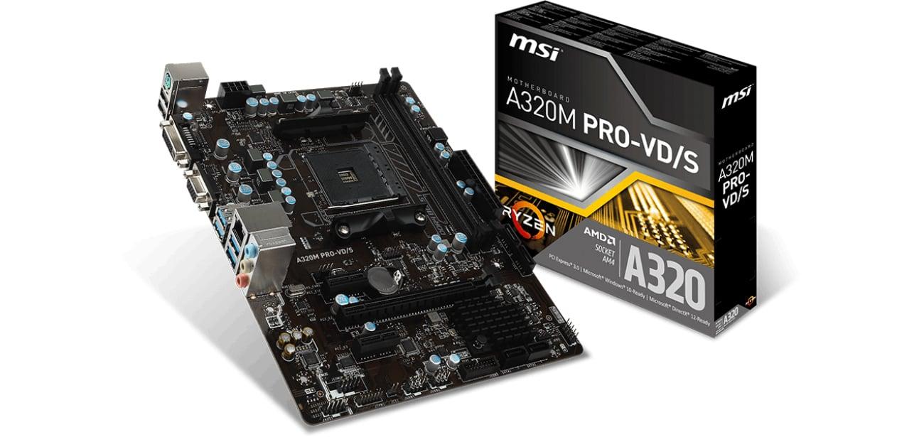 Płyta główna Socket AM4 MSI A320M PRO-VD/S (PCI-E DDR4 USB3.1)