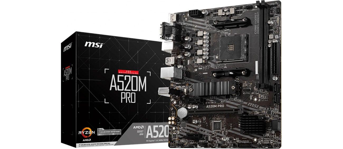 Płyta główna Socket AM4 MSI A520M PRO