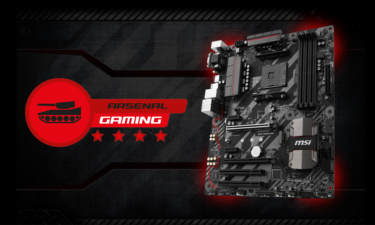 MSI B350 TOMAHAWK Arsenal Gaming