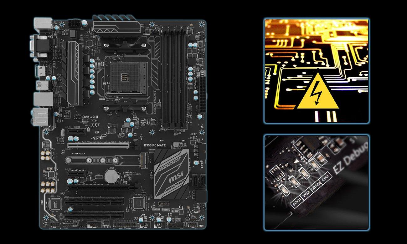 MSI B350 PC MATE Dostrajanie systemu
