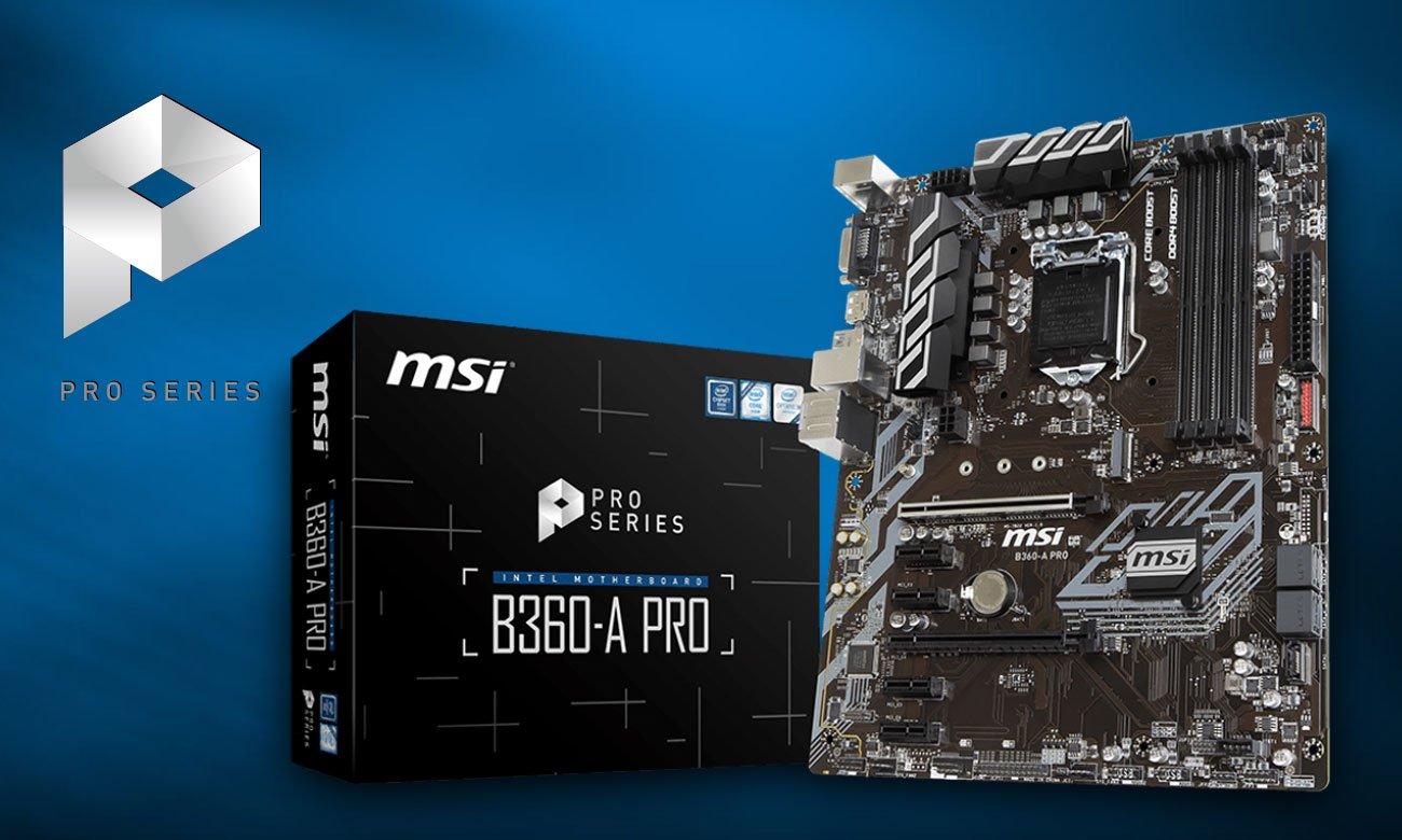 MSI B360-A PRO Połączenie jakości, wydajności oraz rozwiązań biznesowych