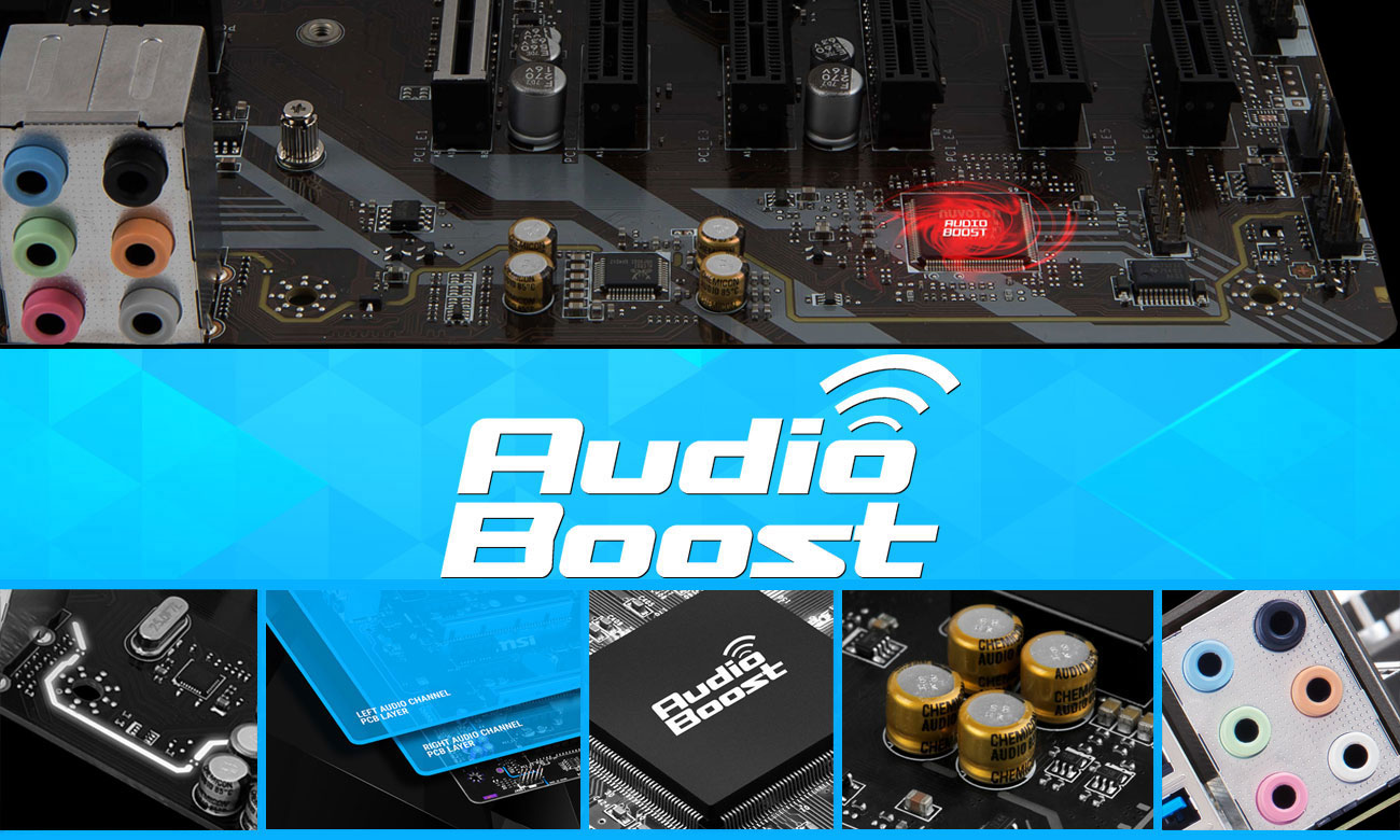 MSI B360-A PRO Profesjonalna jakość dźwięku Audio Boost