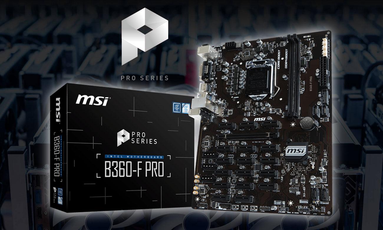 MSI B360-F PRO Płyta główna mocniejsza niż stal