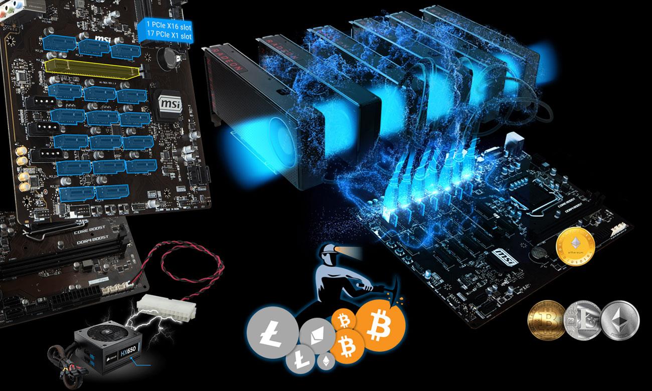 MSI B360-F PRO Solidny system do długodystansowego kopania walut