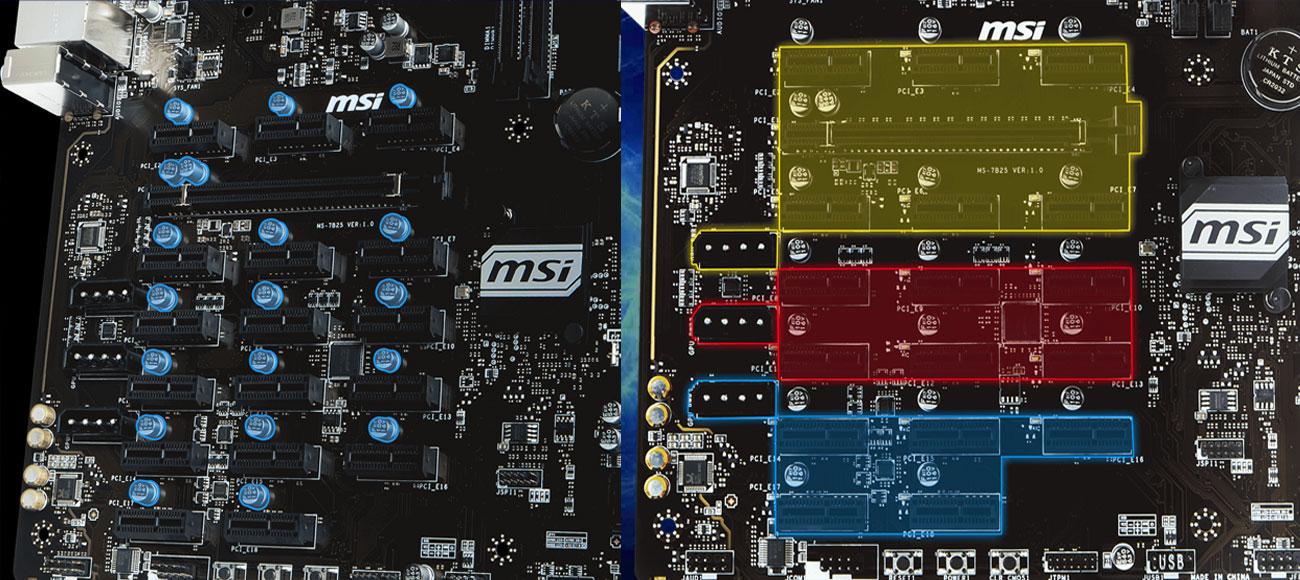 MSI B360-F PRO Niezależna moc gniazda, Stabilne napięcie