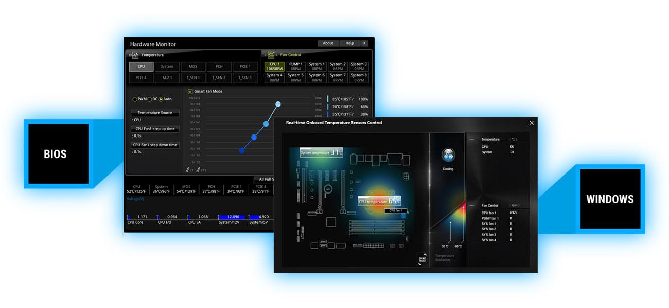 MSI B360-F PRO Pełna kontrola chłodzenia