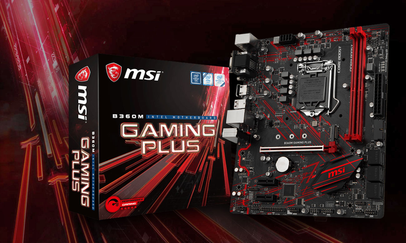 MSI B360M Gaming Plus Zdominuj pole bitwy