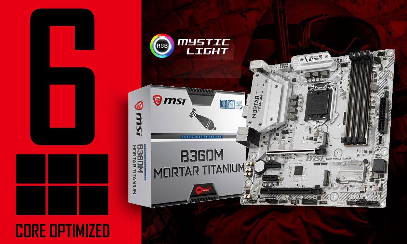 MSI B360M MORTAR TITANIUM płyta główna dla entuzjastów i wymagających graczy