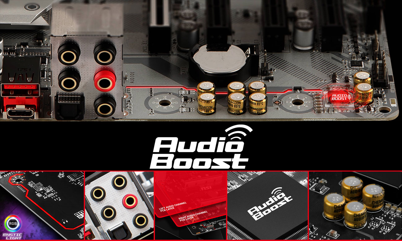 MSI B360M MORTAR TITANIUM System Audio Boost