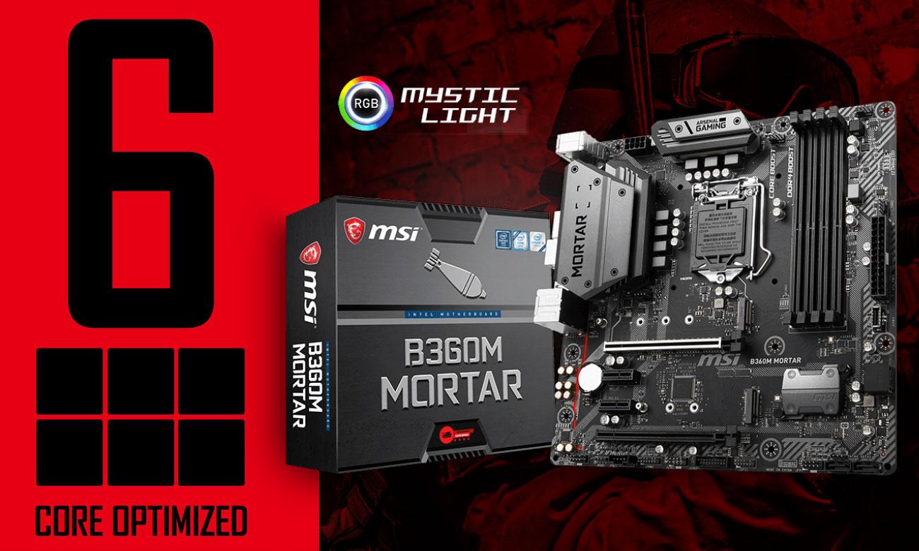 MSI B360M MORTAR płyta główna dla entuzjastów i wymagających graczy