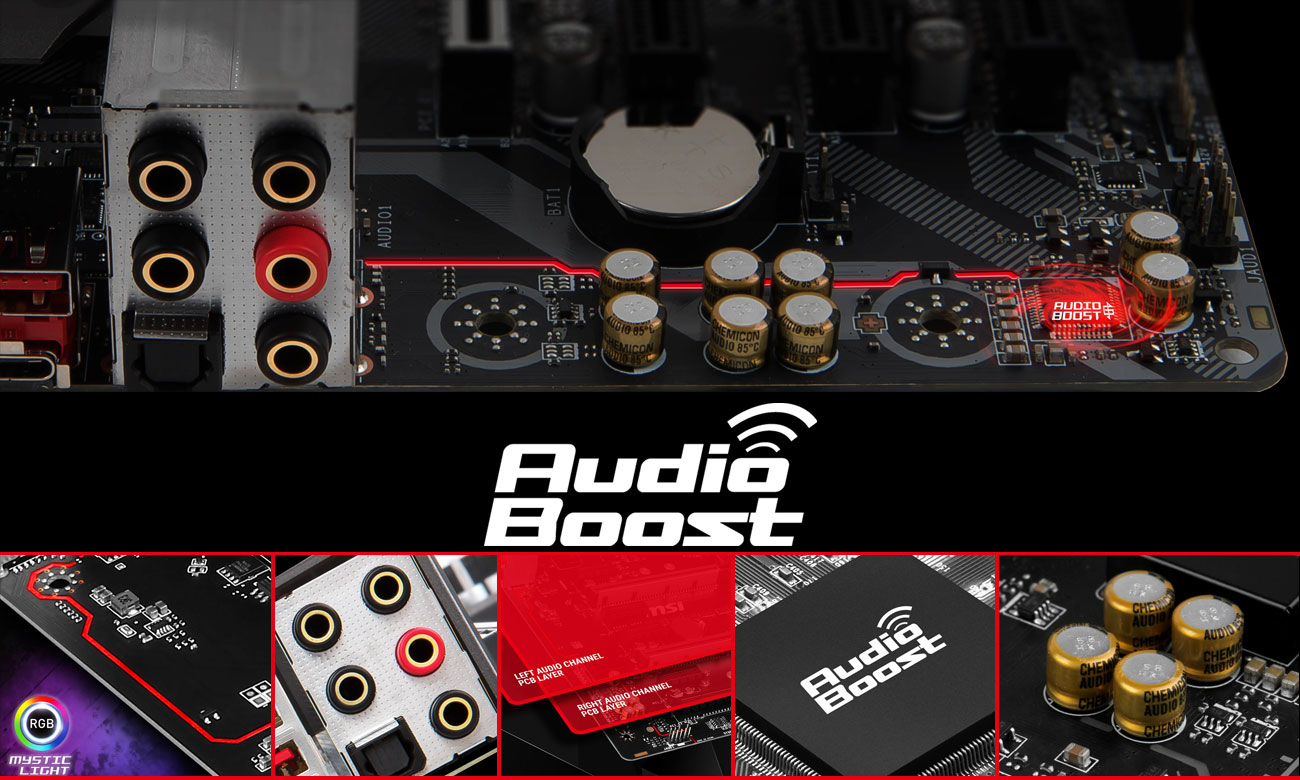 MSI B360M MORTAR System Audio Boost