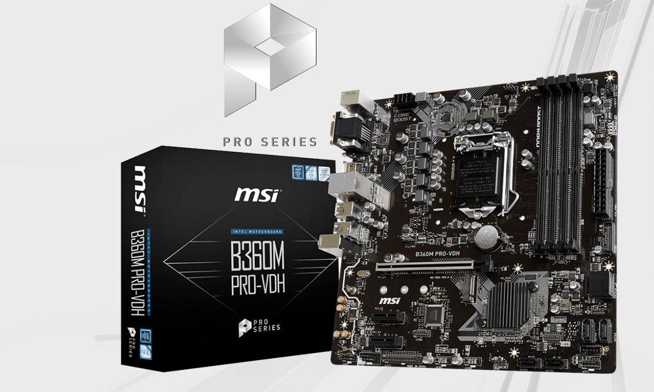MSI B360M PRO-VDH Stworzona z myślą o profesjonalistach