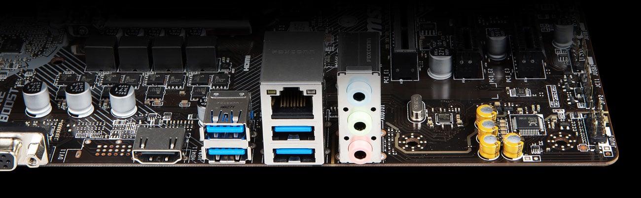 MSI B365M PRO-VH - Złącza audio