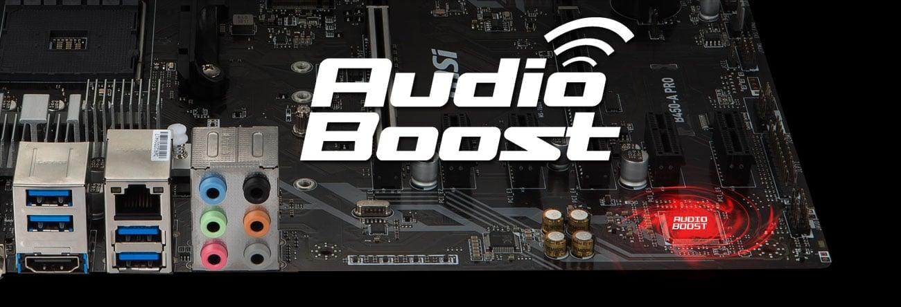 MSI B450-A PRO Dźwięk
