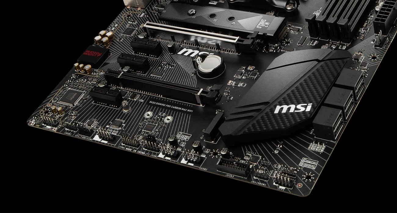 MSI B450 GAMING PRO CARBON MAX WIFI - Złącza M.2