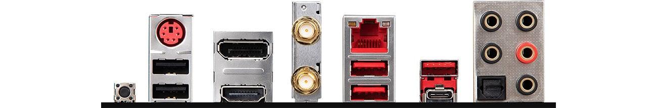 MSI B450 GAMING PRO CARBON MAX WIFI - Złącza