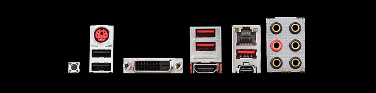 MSI B450 TOMAHAWK MAX II - Złącza