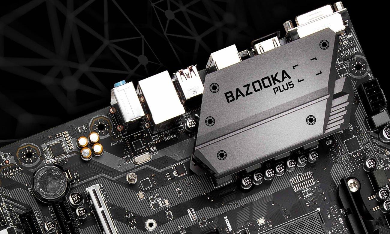 MSI B450M Bazooka Plus Wzmocniona konstrukcja, większe bezpieczeństwo