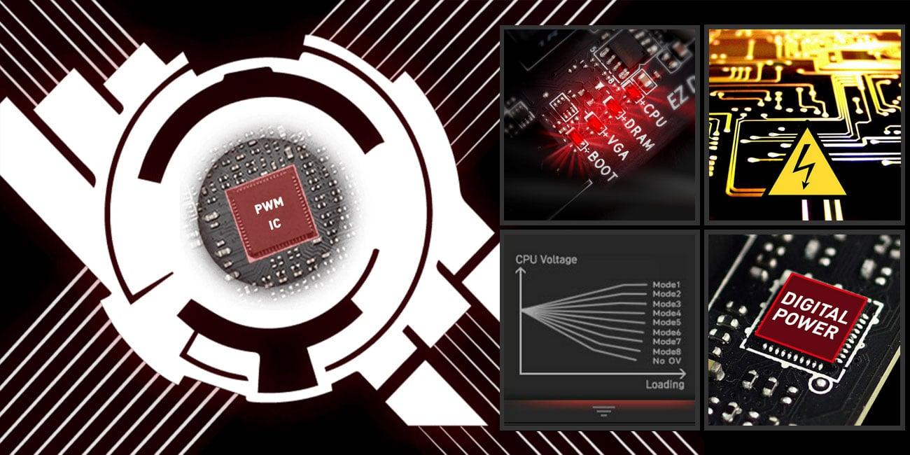 MSI B450M Gaming Plus Zaawansowane rozwiązania do overclockingu